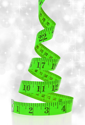 Waiting to buy clothes until lose weight - tape measure photo
