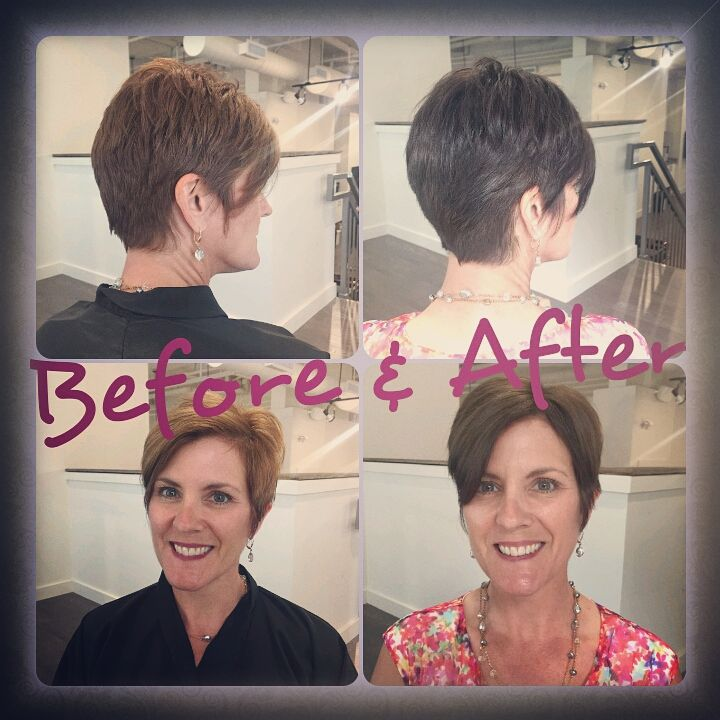 Before After Hair Colour Photos Carol Brailey Image Consulting