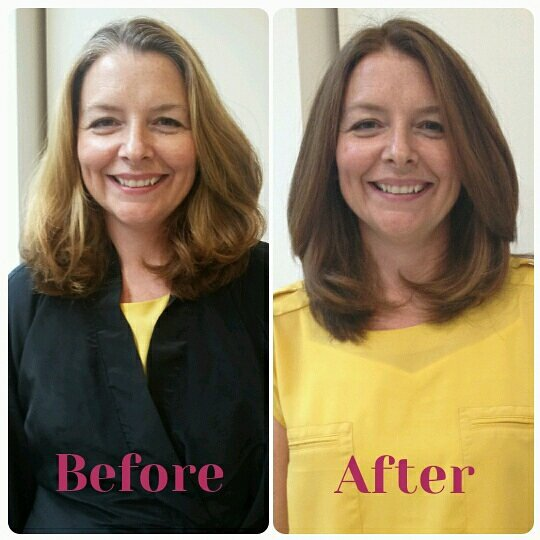 Before After Hair Colour Photos Carol Brailey Image Consulting Toronto Canada